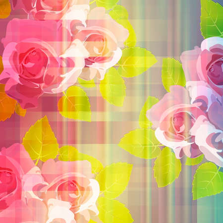 Flowers on bright a background Vector