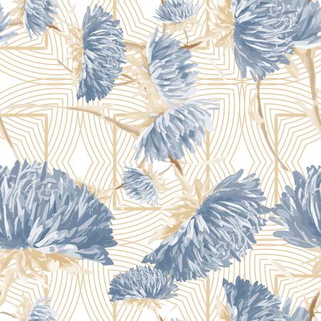 aster:   aster  seamless pattern
