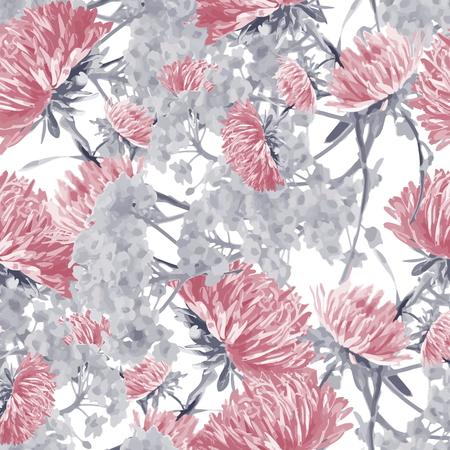 aster  seamless pattern