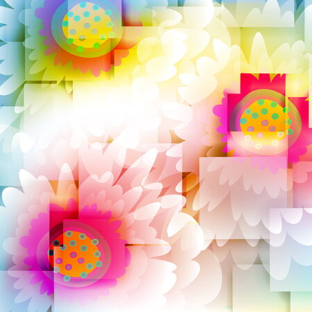 Flowers on bright a background Stock Vector - 25947156