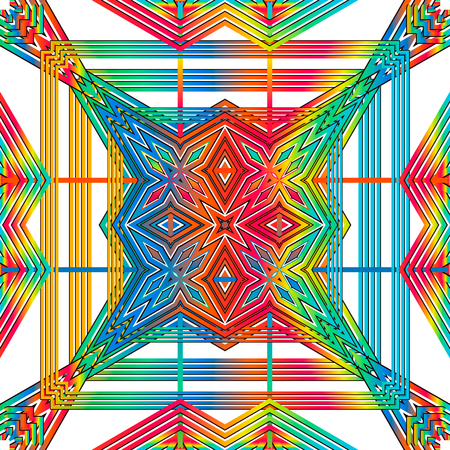 systematic: Vector seamless sample systematic dispersion not of symmetric multi-colored elements