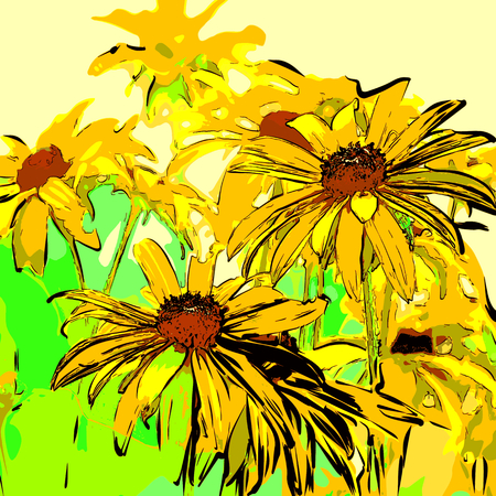 creative potential: yellow fantasy flowers