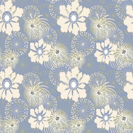 softly: Vector a seamless sample flowers dandelions in infinite design Illustration