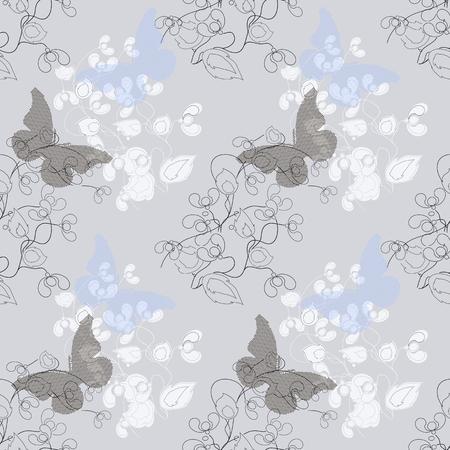 Vector a seamless sample flowers dandelions in infinite design Illustration