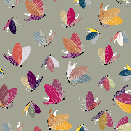 softly: Sample of a butterfly for childrens design. Illustration