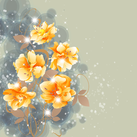 Flowers bright a background are more transparent
