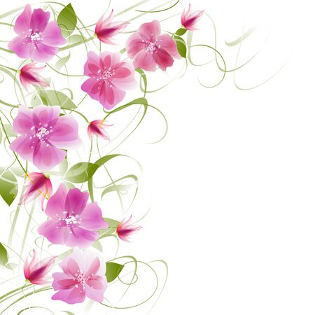 Floral fantasy design on a bright background