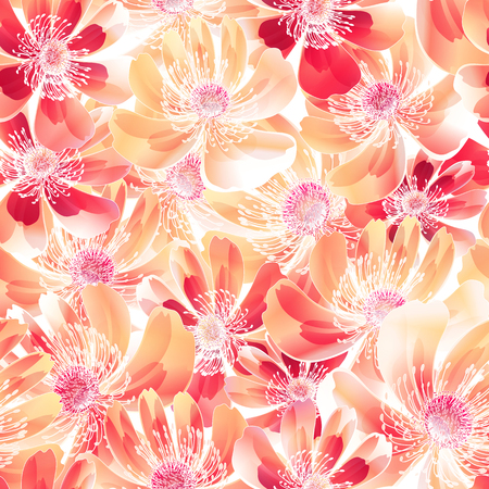 Abstract and floral illustration for design use. Illustration