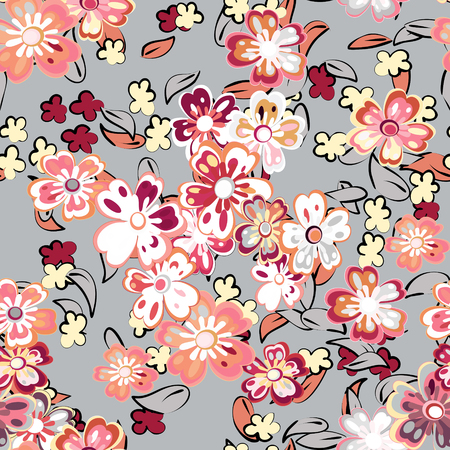 Abstract, floral background for design use. Seamless sample