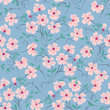 Abstract pink flower on a turquoise background for design use Ilustração