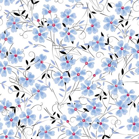 Abstract blue flower on a white background for design use Ilustração