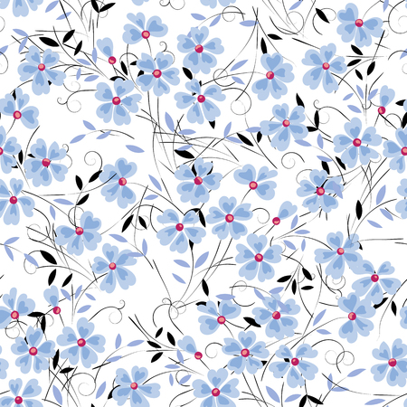 Abstract blue flower on a white background for design use Illustration