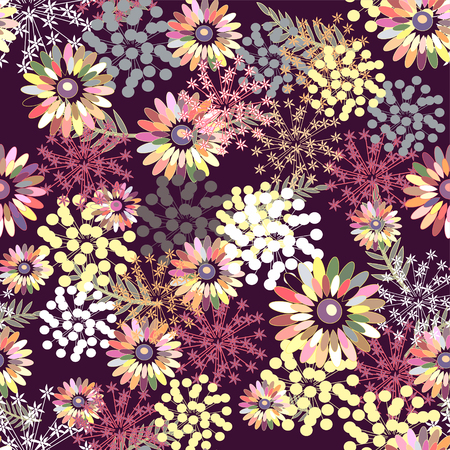 Cute pattern with small flowers. Elegant template for fashion prints. Seamless pattern for use in design Ilustração