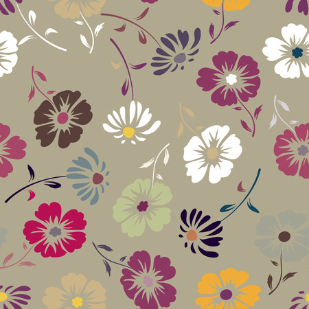 Cute pattern with small flowers. Elegant template for fashion prints. Seamless pattern for use in design Illustration
