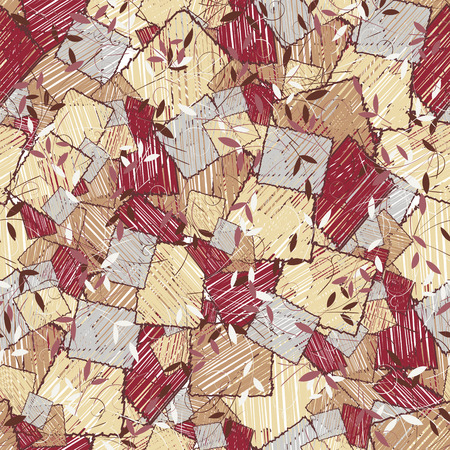 Ovals and triangles. Abstract background for design use seamless pattern Ilustração