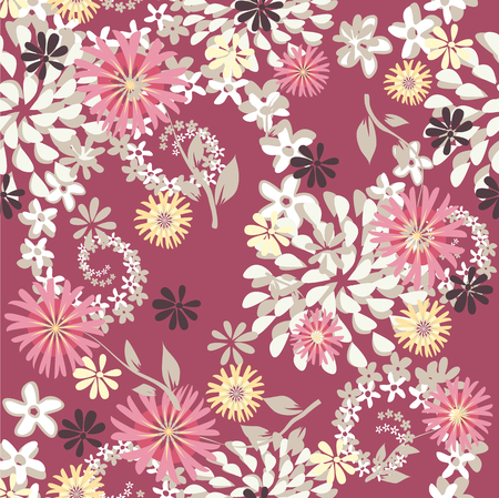 Cute pattern with small flowers. Elegant template for fashion prints. Seamless pattern for use in design.