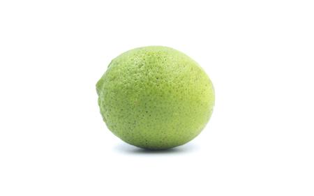 Lime on White Blackground