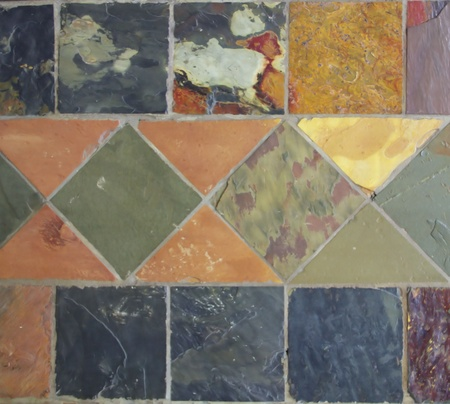 Square bright marble tile  photo