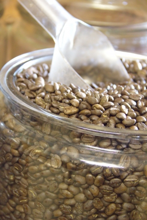 cns: Coffee beans in a glass jar