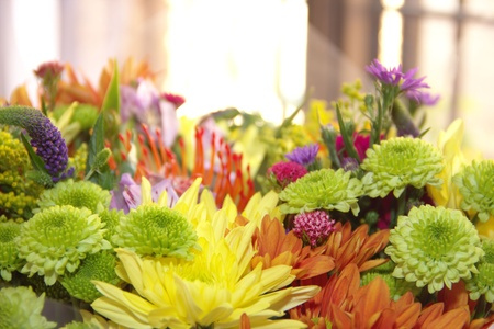 Assorted flowers in a bouquet with space for text Stock Photo - 14992068