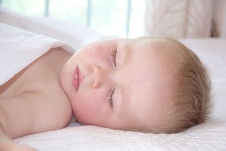 Portrait of a cute sleeping little boy