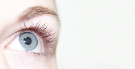 Beautiful eye is looking up photo