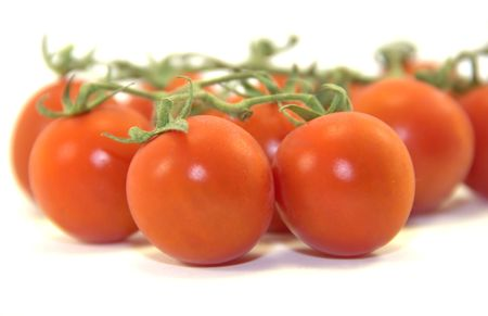 Healthy onebite tomatoes isolated