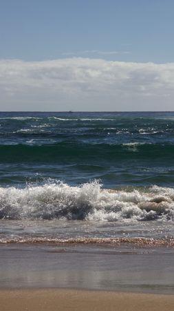 Beautiful view of ocean, vertical panorama Stock Photo