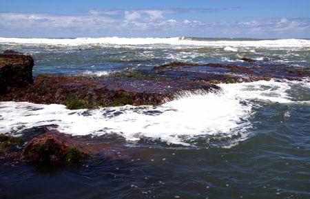 Beautiful view of ocean, low tide
