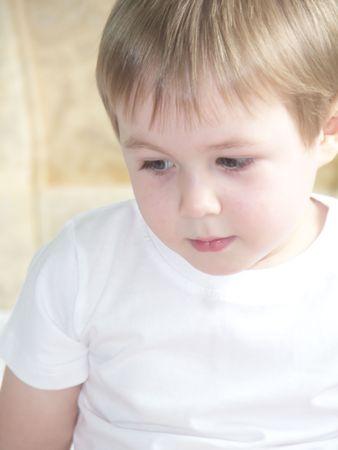 Portrait of cute little three years old boy