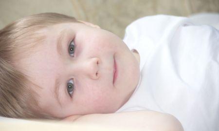 Three years old boy Stock Photo