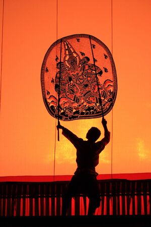puppetry: Thai Shadow puppetry show