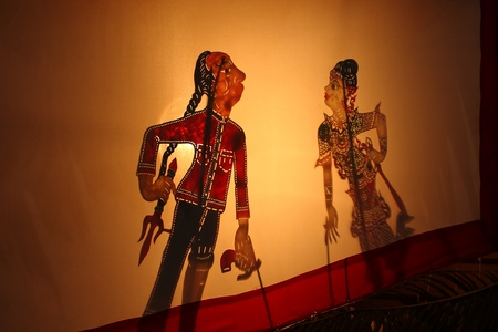 Thai Shadow puppetry show