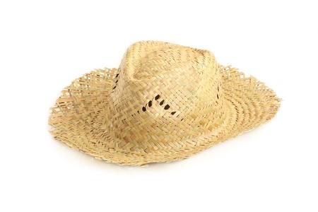 chapeau de paille: Chapeau de paille isolé sur fond blanc