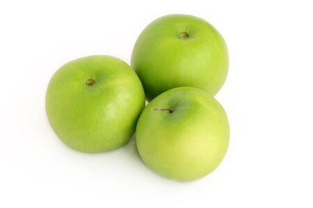 Group jujube fruit isolated on white background