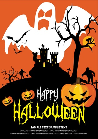 Font in artwork is free font. Halloween on October 31 Vector