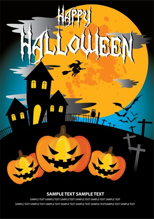 31: Font in artwork is free font. Halloween on October 31 Illustration