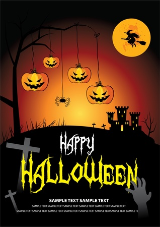 Font in artwork is free font. Halloween on October 31 Stock Vector - 10845666