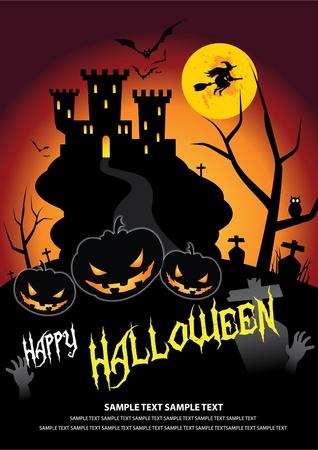 october 31: Font in artwork is free font. Halloween on October 31 Illustration
