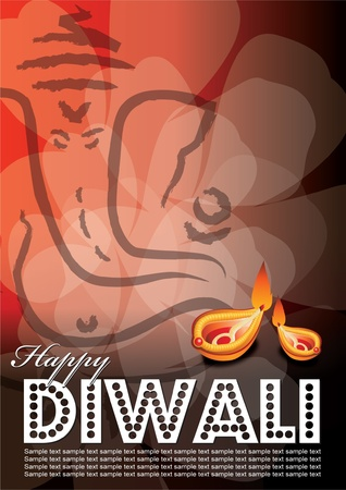 Free font use in artwork... Diwali popularly known as the festival of lights is an important festival in Hinduism, Jainism, and Sikhism, occurring between mid-October and mid-November. Vector