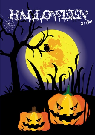 holiday movies: October 31 Halloween is a holiday of the year has to dress as a ghost, the carved lantern Jack - o - bonfires, telling scary stories and watching horror movies.  Illustration