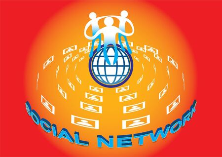 Comercialización de la red social es el mercado moderno, los clientes tienen acceso inmediato al grupo.