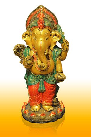 believed: The Hindu god Ganesh. It is believed that there would be a fortune. Stock Photo