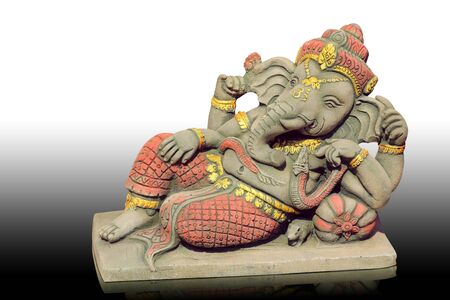 The Hindu god Ganesh. It is believed that there would be a fortune. photo