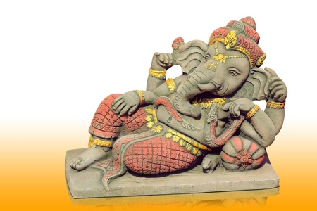 would: The Hindu god Ganesh. It is believed that there would be a fortune. Stock Photo