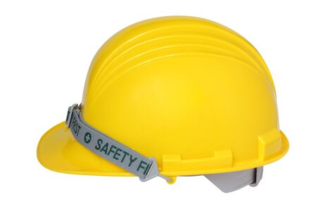 helmet of constructor isolated on white background