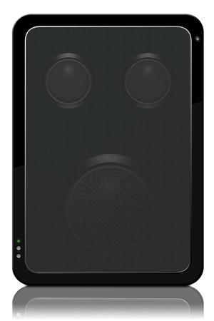 two party system: Stock photo speaker with bass and tweeters