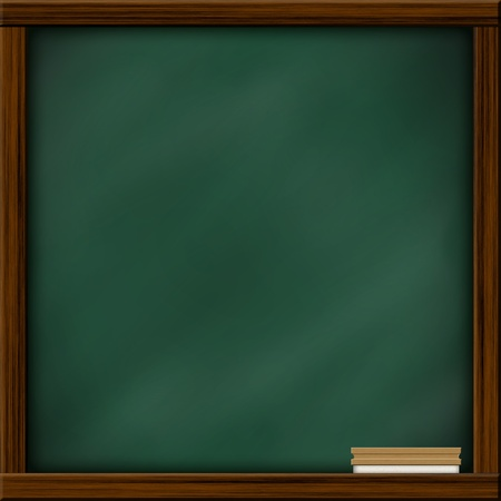 green chalkboard: Chalkboard blackboard with frame and brush. Chalkboard texture empty blank with chalk traces and square wooden frame. Stock Photo