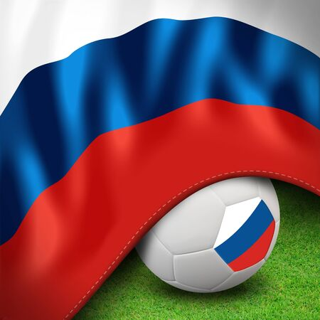 Soccer ball and flag euro russia Stock Photo - 12842385
