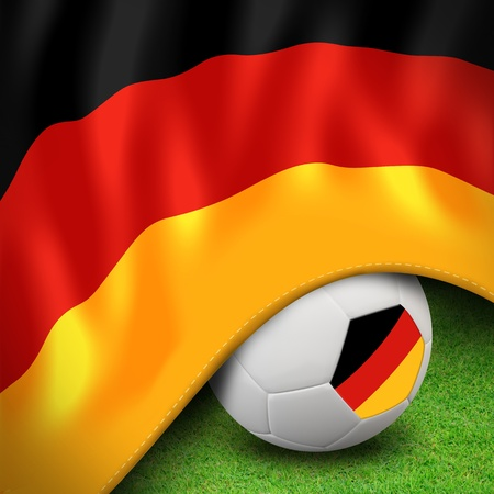 Soccer ball and flag euro germany photo